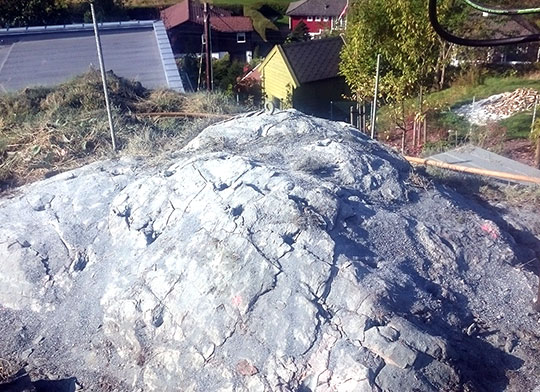 Fjellsplitting fra Kallestad Maskin og Fjellsplitting