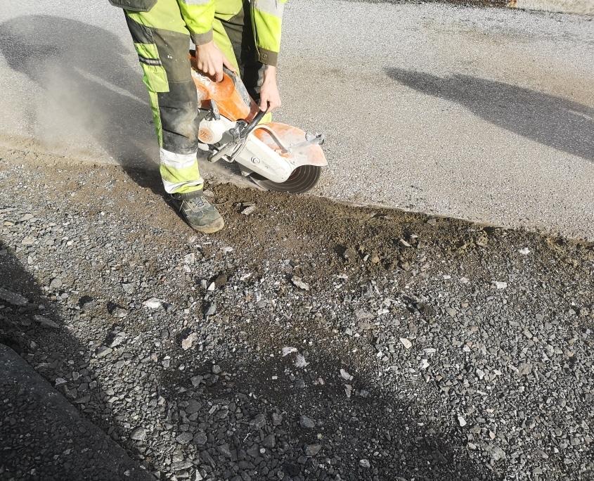 Asfalt rehabilitering fra Kallestad Maskin og Fjellsplitting